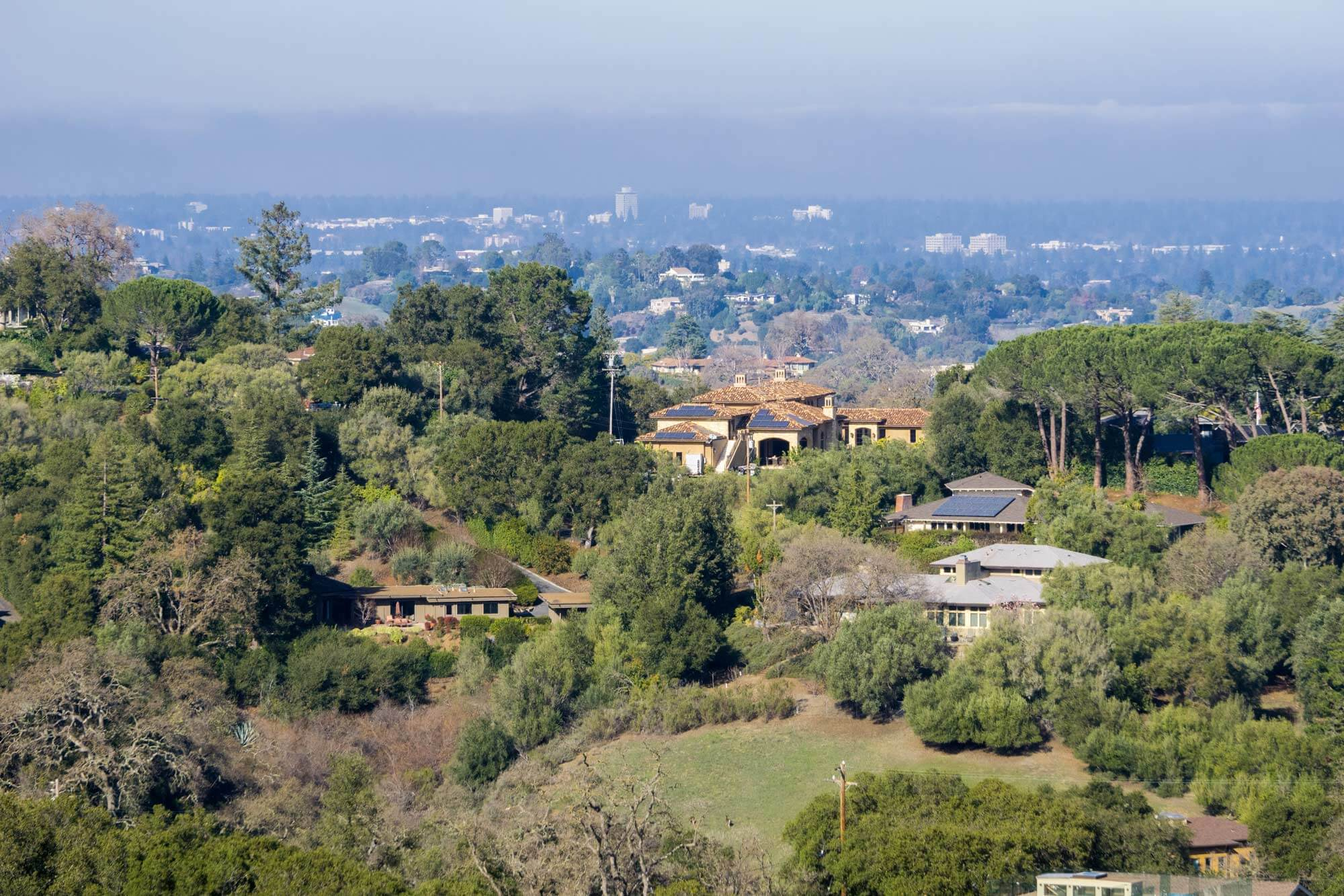 Aerial view of Los Altos